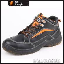 Transparent PU Injection Outsole Safety Shoe with Genuine Leather (SN5207)