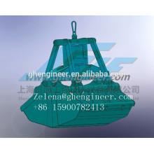 Elétrico hidráulico Clamshell Grab para guindaste de navio