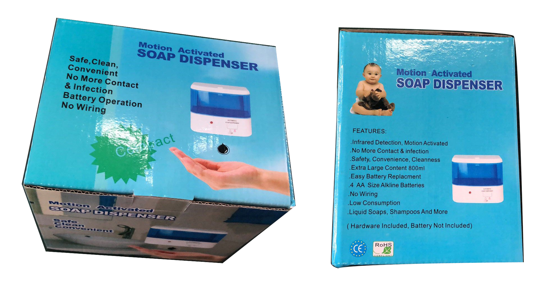 auto soap dispenser in foam