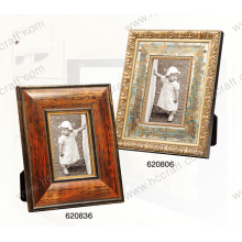 Wooden Plaster Photo Frame with Foil for Home Decor