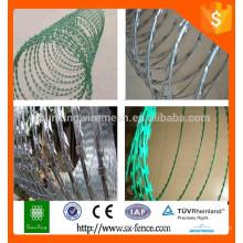 Fabrication de fil barbelé à vendre / fil barbelé galvanisé / pvc à barbelés
