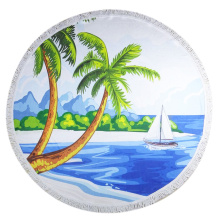 Handuk Round Beach XL Palm Tree Beach Towels