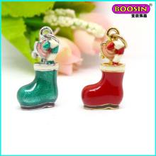 Guangzhou Factory Fancy Enamel Christmas Shoe Charm