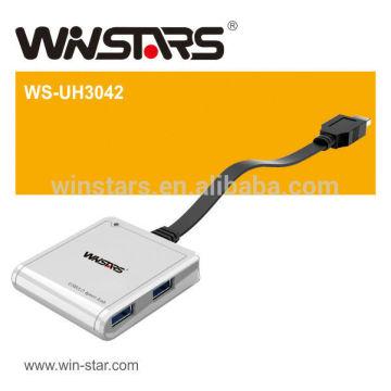 5Gbps 4 portas USB 3.0 HUB de alto desempenho, um hub de carga 1.5A de carga, suporta troca a quente