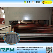 China stone coated steel roof tile roll forming machine