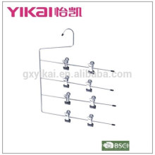 Multifuctional space saving 4-tier chrome plated metal skirt hanger