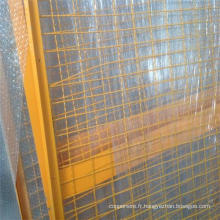 Haute qualité cadre de barrière d'aluminium revêtu de fil d'acier