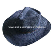 Fashionable Women's Paper Straw Cowboy Hat