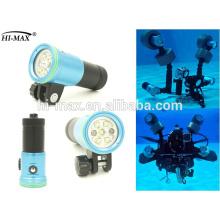 Latest diving led flashlight cree xml t6 led diving flashlight