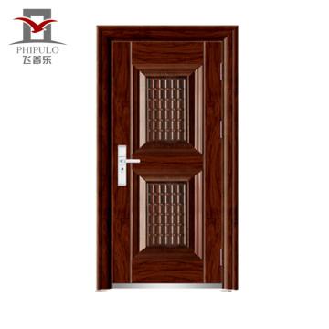 Puerta exterior del acero del precio de la puerta del hierro 2016cheap