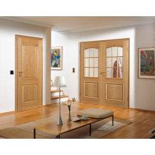 Inserciones de vidrio de plomo de la puerta de madera oscilante interior
