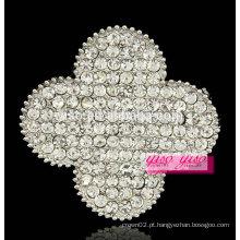 Mais recente estilo requintado elegante flor cristal strass broche