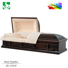 Comércio garantia fabricante chinês barato maple americano caixão