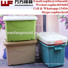China Taizhou Huangyan all kinds of plastic storage box injection mold with high quality 2017 new product box mold