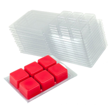 6 Cavity Clear Wax Melt Mould Plastic Box