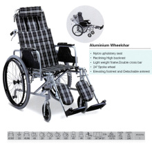 Reclining High Backrest Aluminum Wheelchair