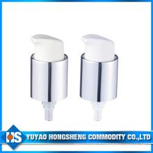 Pompe à pulvériser à crème cosmétiques en aluminium de 20 mm avec capuchon