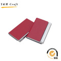 Metal Leather Name Card Holder on Top with High Quality