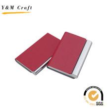 Titular de la tarjeta de presentación de cuero del metal en la parte superior con alta calidad
