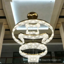 Baccarat K9 Kristall Edelstahl LED Kronleuchter Licht