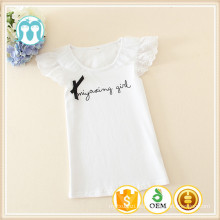 O pescoço crianças casual wear bebê roupas t-shirt para crianças