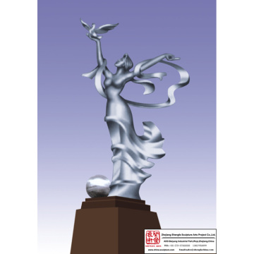 Stainless Steel School Sculpture