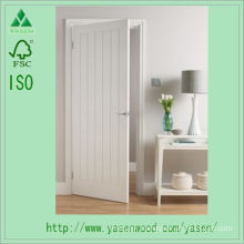 European Style White Flush Wooden Door