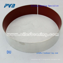 matériau coulissant composite autolubrifiant avec support en acier inoxydable