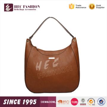HEC Pu Nova Jovem Marrom Moda Elegância Handbag Importação Atacado