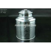 Bidón de estaño, Capacidad de té de 100 g ((Super hermético, material de hojalata gruesa)