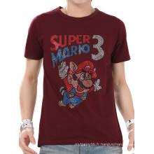 T-shirt col rond en coton en gros d'été de diamant de Custome de mode de diamant des hommes