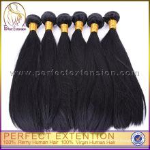 paquets libres de cheveux d'armure de cheveux vierges péruviens, produit de cheveux humains