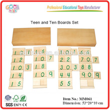 montessori material toys Teen & Ten Boards Set