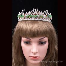 Heiße Verkauf headwear runde Festzug Tiara Krone