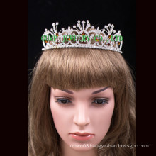 Hot sale headwear round pageant tiara crown