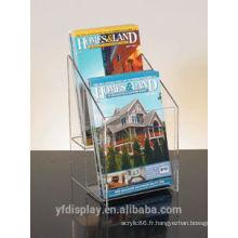 Utilisez pour l'affichage d'organisateur de brochure acrylique clair de banque