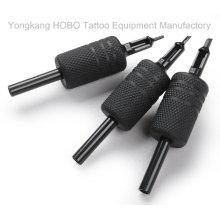 Poignées noires en caoutchouc de silicone de tatouage jetable de la meilleure qualité 25mm avec des bouts noirs
