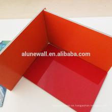 Panel compuesto de aluminio Materiales Paneles acp incombustibles con estructura ignífuga