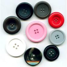 Buena calidad Ronda botón colorido resina de acrílico para la ropa
