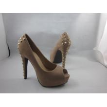 Novas mulheres design peep toe sandálias (hyy03-146)