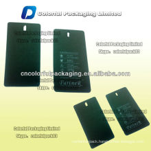 High quality hang paper tag for clothing/Customized garment paper drop