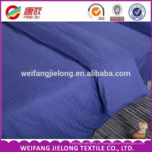 Bom preço Hotel Beddings, 100% algodão 40s 250tc faixa de cetim venda quente. O fundamento brilhante do cetim da listra ajusta o tecido branco das listras
