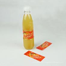 PVC/PET Shrink Wrapped Sleeve Label For  orange juice