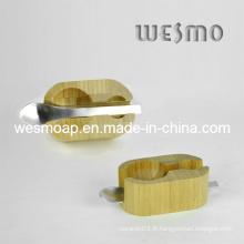 Outil de cuisine en bambou carbonisé Porte-cuillères