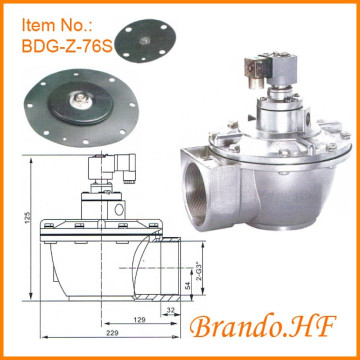 Diafragma Solenoid Pulse Jet Dust Collector Valve