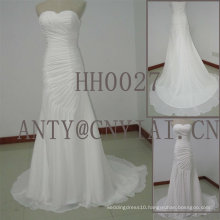 HH0027 Beach Pleated Chiffon Wedding Dress