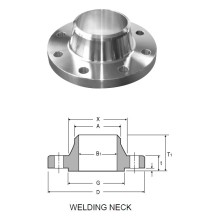 Duplex Stainless Steel ASME B16.5 Weld Neck Flanges