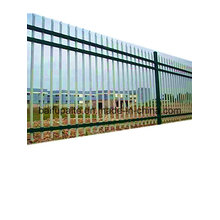 Clôture extérieure de fer de barrière en métal HDG avec l'extrémité pointue