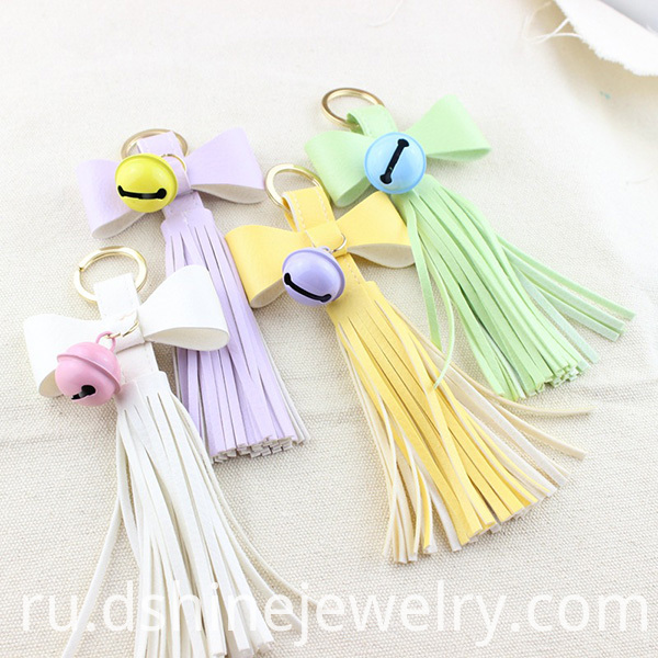 Tassel Keychain Leather For Bags