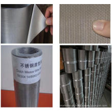 Aço inoxidável holandês weave filtro pano 200X600mesh / 23 micron filtro finura